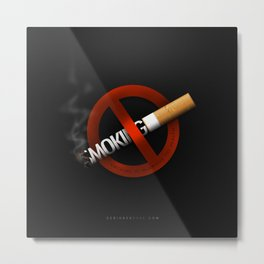 No Smoking - Smoking Kills Metal Print