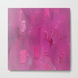 Pink Flying Kites Metal Print