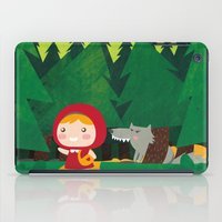 red riding hood iPad Cases featuring Little Red Riding Hood by parisian samurai studio