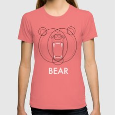 Bear LARGE Womens Fitted Tee Pomegranate