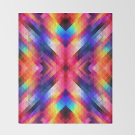 PSYCHO GEOMETRY Throw Blanket