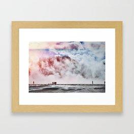 Hot Spring Silhouettes Framed Art Print