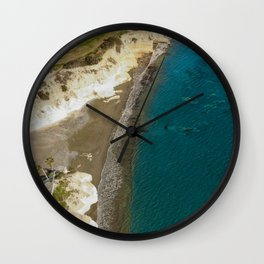 Natural beauty - Governors beach, Cyprus Wall Clock