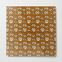 Poop Emoji Metal Print