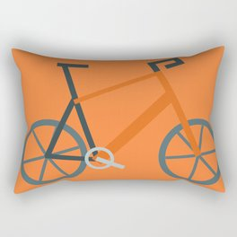 Orange Bike Rectangular Pillow