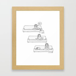 being ignored by a pug Framed Art Print