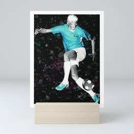 Footballer - Fine Footwork - Negative Mini Art Print