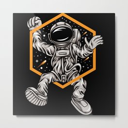 Astronaut dancing octagon awesome cosmonaut gifts Metal Print
