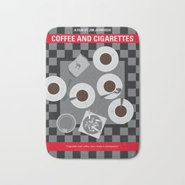 No808 My Coffee and Cigarettes minimal movie poster Bath Mat