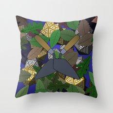 Icobular Blue Throw Pillow