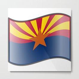 Waving Flag of Arizona  Metal Print