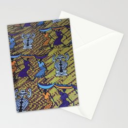 Ankara Print African Ladies Going to Market Stationery Cards