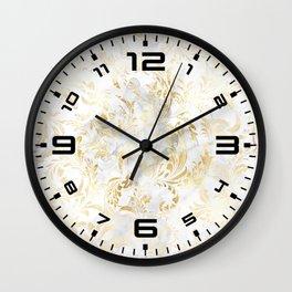 Elegant Gold swirls Wall Clock