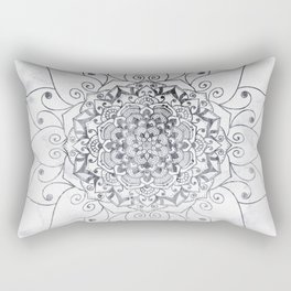 ELEGANT MANDALA IN GRAY Rectangular Pillow