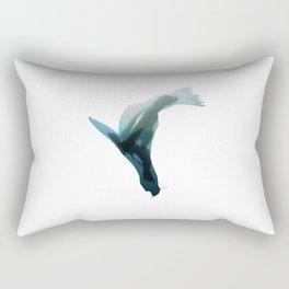 Galapagos sea lions triple exposure Rectangular Pillow