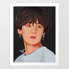 Yoongi BTS Art Print