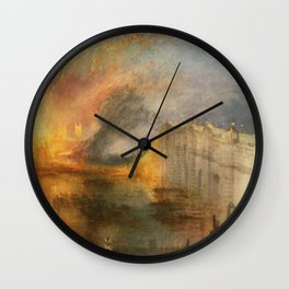 The Burning of the Houses of Lords and Commons Wall Clock