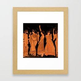 Club Life in Ancient Greece Framed Art Print