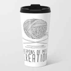 Weapons Of Mass Creation - Knitting Metal Travel Mug
