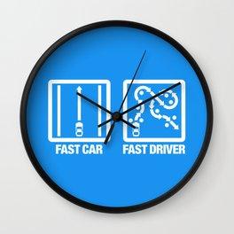 Fast Car - Fast Driver v4 HQvector Wall Clock