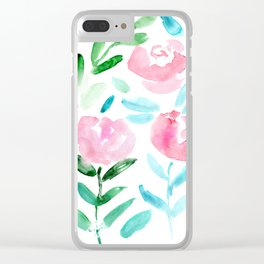 Floral vibes #7    watercolor Clear iPhone Case