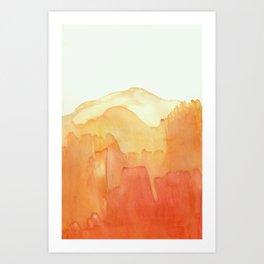 Orange Ombre Art Print
