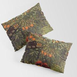 Apes in the Orange Grove by Henri Rousseau 1910 // Colorful Jungle Animal Landscape Scene Pillow Sham