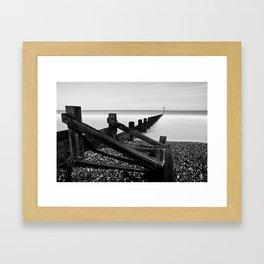 Sea & Moon Framed Art Print