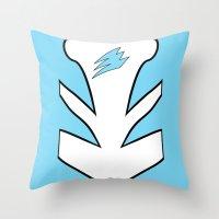 power ranger Throw Pillows featuring Cyan Spirit Ranger by JoSumdac