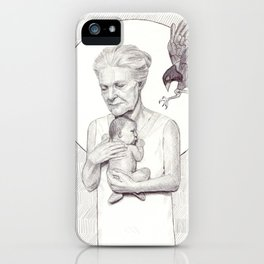 The Protector - Pen and Ink Art iPhone Case
