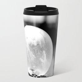 Black and White Frozen Bubble Travel Mug