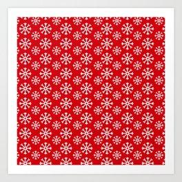Winter Wonderland Snowflake Snowfall Christmas Pattern Art Print