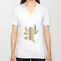 stitch V-neck T-shirts featuring stitch  by Vanessa Tanadi