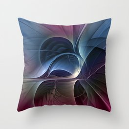 Fractal Mysterious, Colorful Abstract Art Throw Pillow