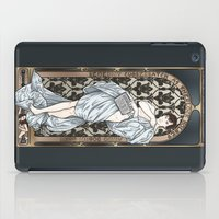 mucha iPad Cases featuring A Scandal in Belgravia - Mucha Style by Alessia Pelonzi