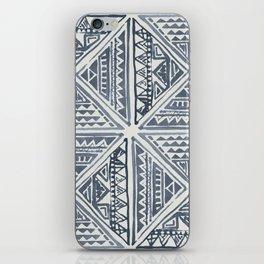 Simply Tribal Tile in Indigo Blue on Lunar Gray iPhone Skin