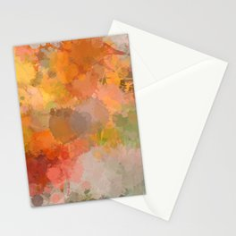 Modern contemporary Yellow Orange Abstract Stationery Cards