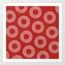 Big Red Dot Polka Dots Art Print