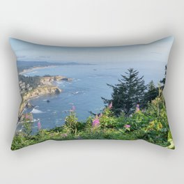 Otter Rock, Oregon from Cape Foulweather Vantage Point Rectangular Pillow