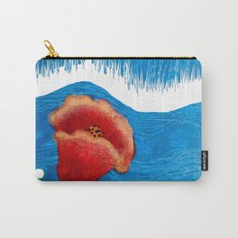 Coquelicot et pluie bis Carry-All Pouch