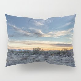 Sunset with Hot Air Balloons in the Distance Outside Phoenix Pillow Sham