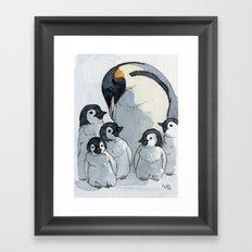 Penguin family 515 Framed Art Print