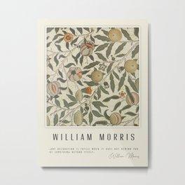 Modern poster-William Morris-Vegetable print 1. Metal Print