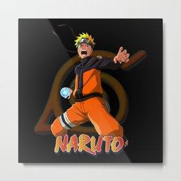 Naruto Uzmaki Rasengan Metal Print