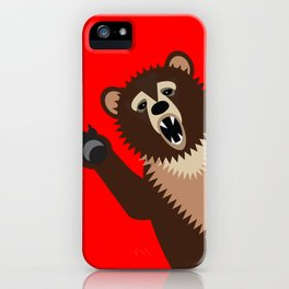 The Bear Says Boo iPhone Case