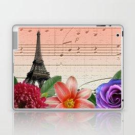 Flowers & Music in Paris Laptop & iPad Skin