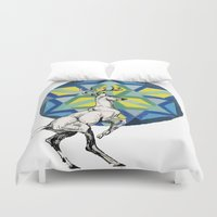 stag Duvet Covers featuring STAG by The Traveling Catburys