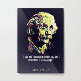 Quotes Albert Einstein Metal Print