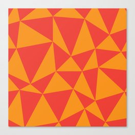 Abstract triangles - red and orange Canvas Print