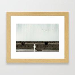 Big-big boy in a big-big world Framed Art Print